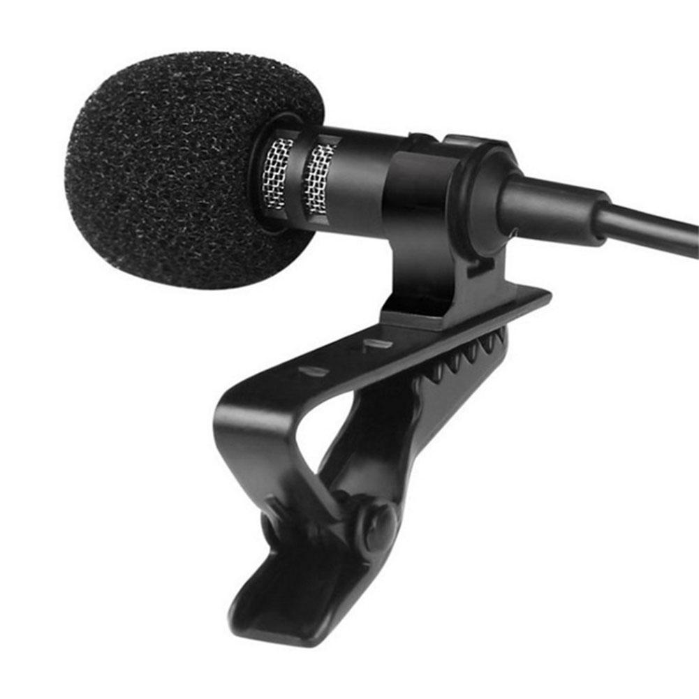 MeterMall 3.5mm Tie Microphone Clip-on Lapel Mikrofon Microfono Mic For Mobile Phone