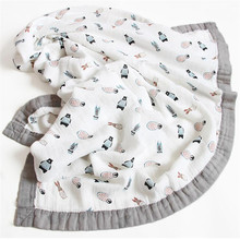 120*110 см 6 слойное бамбуковое детское муслиновое одеяло, пеленки для новорожденных, мягкое одеяло, марля для ванны, Младенческая обертка для сна, многоцелевой подгузник