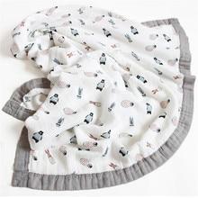 120*110cm 6 Schichten Bambus Baby Musselin Decke Neugeborenen Swaddles Weiche Decken Bad Gaze Infant Wrap Schlafsack Multi verwenden Windel
