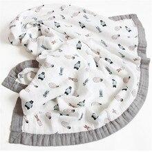 120*110cm 6 camadas de bambu bebê musselina cobertor recém nascidos swaddles cobertores macios banho gaze envoltório infantil fralda multi uso