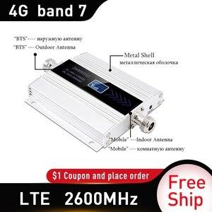 Image 3 - 4G LTE DCS 2600 MHz Moblie Điện Thoại Booster 2600 Lặp Tín Hiệu Tăng 65dB Mạng 4G Di Động Khuếch Đại 5dBi roi Ăng Ten Trong Nhà