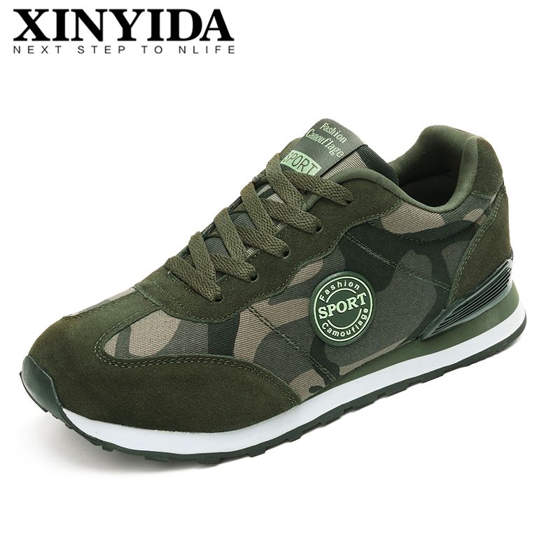 New Arrival Camouflage Unisex Sport Sneakers Lace-up Breathable Casual Shoes Fashion Light Running Shoes Men Women Size 35-44