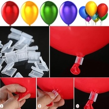 100pcs Latex Balloon PVC  V-clip Wedding and wedding supplies Event scene layout balloon accessories