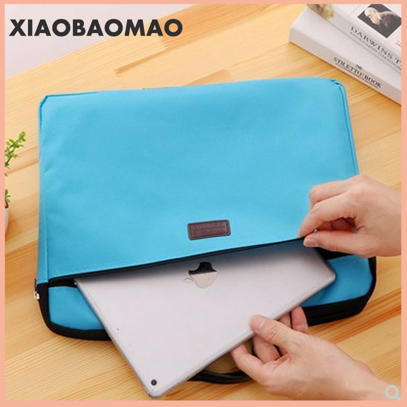 6 colors A4 Document Bag Big Capacity Double Layers Book File Folder Holder with Handle Zipper Waterproof Canvas Handbag for Bus 4