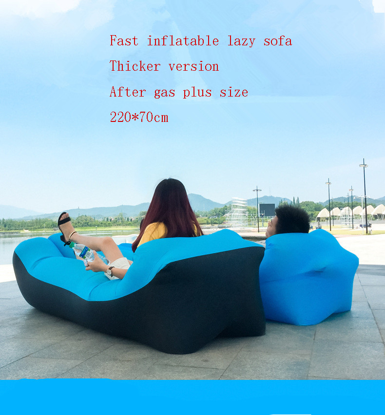 Hot Sale Rooxin Outdoor Products Fast Infaltable Air Sofa Bed Good Quality Sleeping Bag Inflatable Air Bag Lazy Bag Beach Sofa 240*70cm Discounts Price