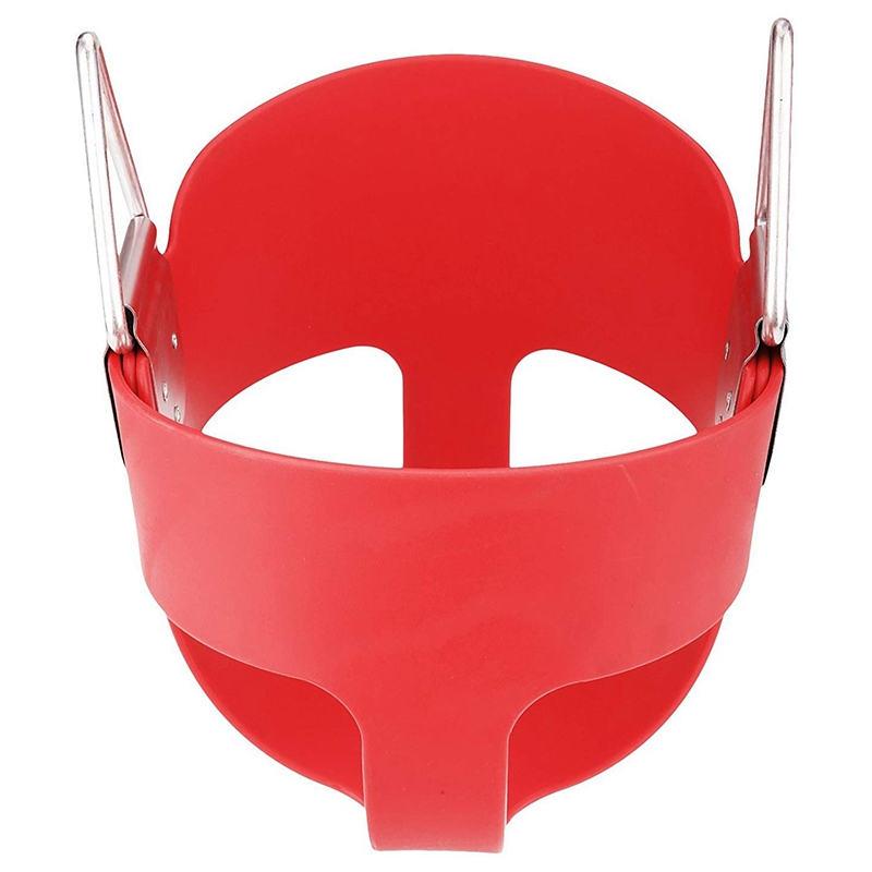 1 Piece EVA Nickel Plated Material Heavy High Back Red Bucket Child Swing Seat Swing Accessories