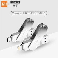 Xiaomi Jesis USB flash disk Type-C ,Lightning Interface Mobile phone Storage space expansion 32/64/128GB U disk for Phone,laptop pofan 3 in 1 128gb mobile lightning