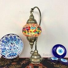 Moroccan lamps retro romantic bedroom sitting room dining-room hotel home stay bar Turkish handmade glass lamp