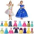 Mädchen Prinzessin Kostüme Anna und Elsa Rolle Spielen Kleider Schnee Weiß Party Cosplay Outfits Einhorn Vampire Fee Sommer Kleid