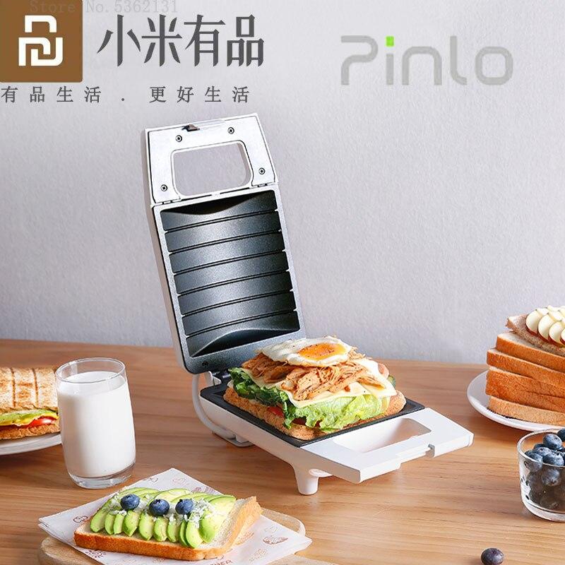 Youpin Pinlo Mini Sandwich Machine Kitchen Breakfast Bread Maker Toaster Toast Machine Frying Egg Maker For Household Appliances