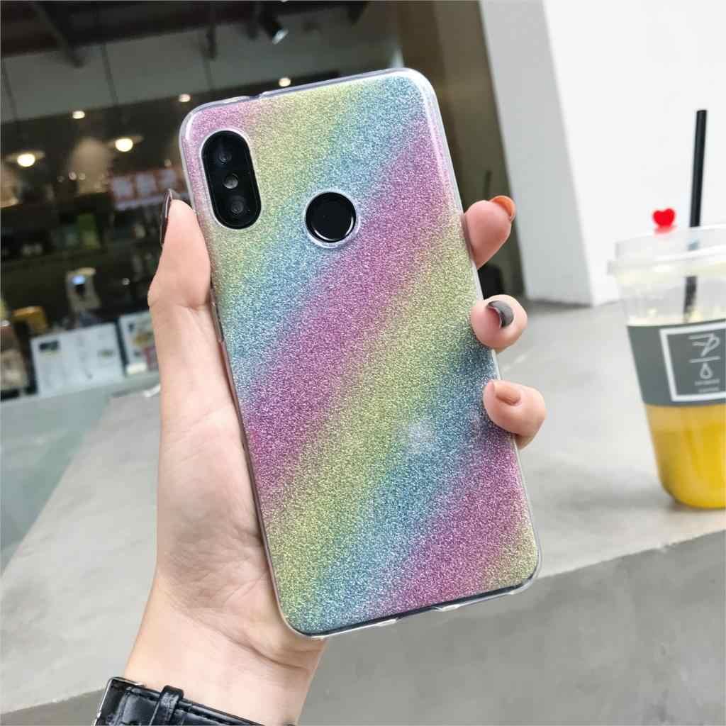 Glitter Gradiënt Case Voor Xiaomi 9 Se 8 A3 A2 Lite A1 Redmi Note 7 6 Pro 7A 6A 5A 5 Plus 4A 4X Cover Tpu Silicon Soft Phone Case
