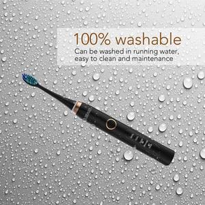 Image 5 - Spazzolino elettrico ricaricabile Seago spazzolino sonico per adulti denti puliti in profondità con 3 testine spazzola per cure odontoiatriche 986