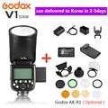 Godox V1 V1S/V1N/V1C/V1O/V1F ttl литий-ионная круглая вспышка для фотоаппарата вспышка для Nikon/sony/Canon/Fujifilm/Olympus w/XPRO триггер