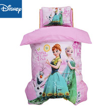 цена на Disney cartoon Frozen Elsa 3Pcs  Baby Bedding Set For Boy Girl Cotton Kids Bed Cot Kit Crib Bedding For Newborns 120x150