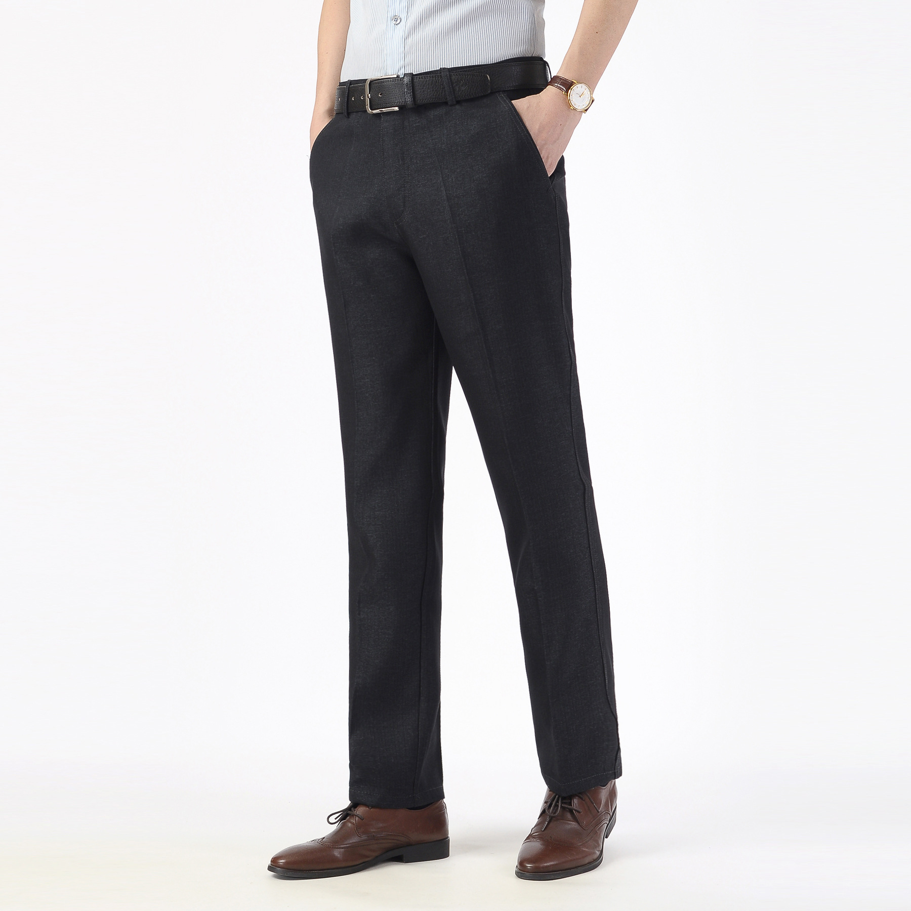 Autumn/winter 2020 Men Business Casual Pants Straight Loose Wash And Wear A Suit Of Tall Waist Trousers