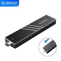 ORICO M.2 SSD Fall NVMe 10Gbps Mit Versenkbare Interface Typ C USB 3 1 UASP M.2 USB NVME Gehäuse Aluminium festplatte Festplatte Box