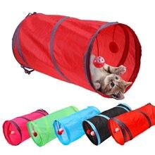 Забавный игровой туннель для кошек с 2 отверстиями 7 цветов
