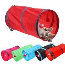 7 cores 2 buracos engraçado gato túnel jogar tubos bolas dobrável crinkle gatinho brinquedos filhote de cachorro coelho jogar cão túnel de bate-papo brinquedo do gato