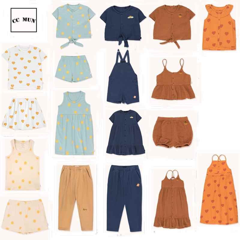 Pre-sale 2020 summer TC new girl suspender skirt children short-sleeved T-shirt suit vest two-piece
