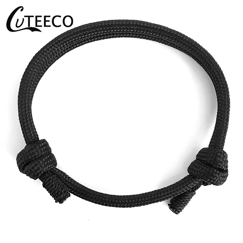 CUTEECO Braided Rope Multi layer Survival Bracelets Men Trendy Minimalist Male Nylon Bangles 2019 New Arrival High Quality in Charm Bracelets from Jewelry Accessories