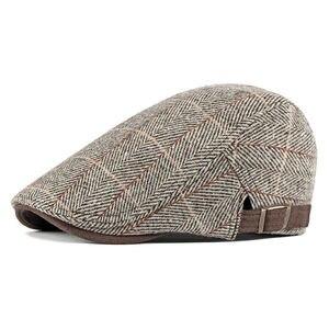 Image 4 - גברים של Newsboy כומתה נהג כובעי משובץ גטסבי כובע קיסוס נהיגה גולף המוניות גברים סתיו כובע כפה