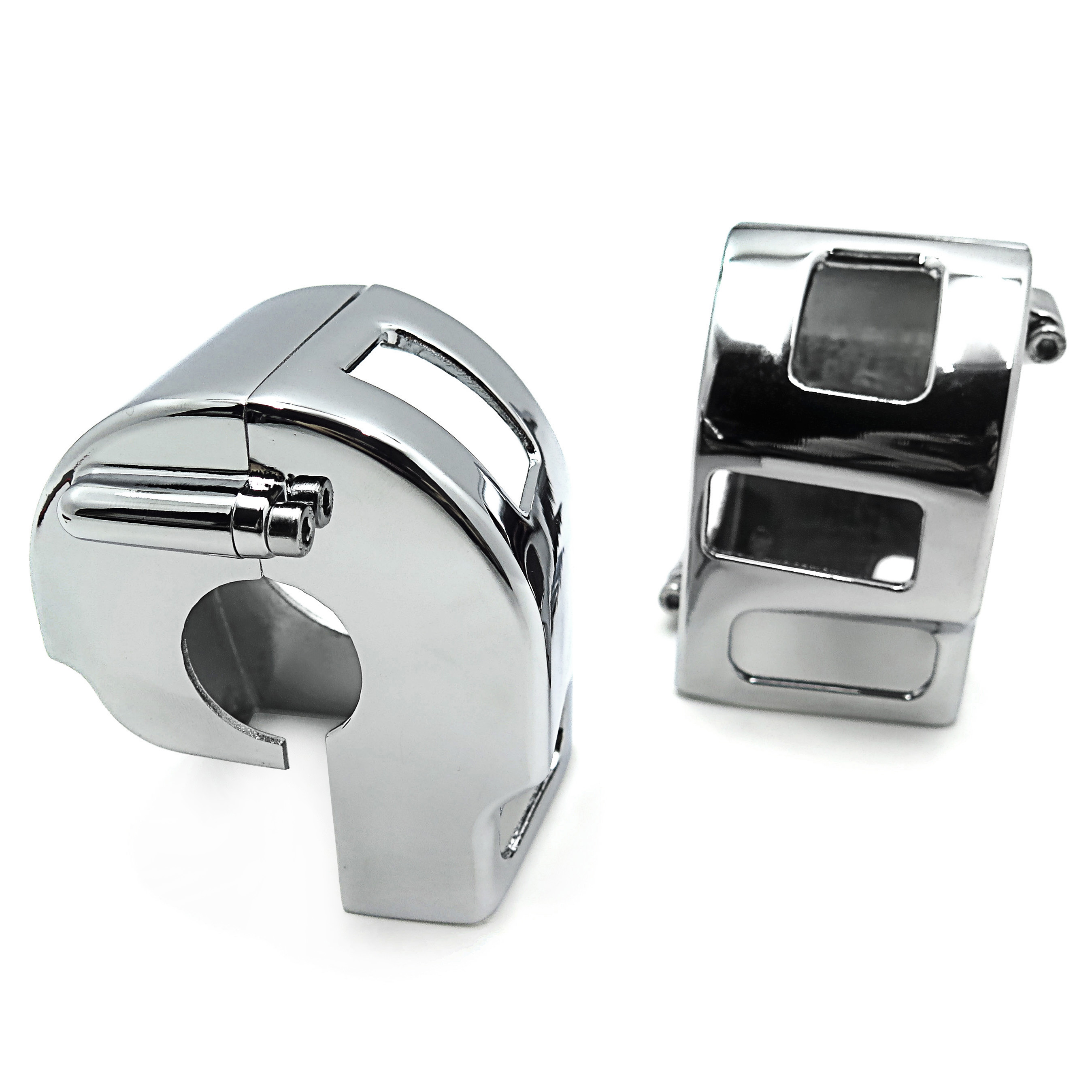 Aftermarket free shipping motorcycle parts Chrome Switch Housing <font><b>Cover</b></font> for <font><b>Yamaha</b></font> V-Star <font><b>XVS</b></font> <font><b>650</b></font> Classic Silverado models image