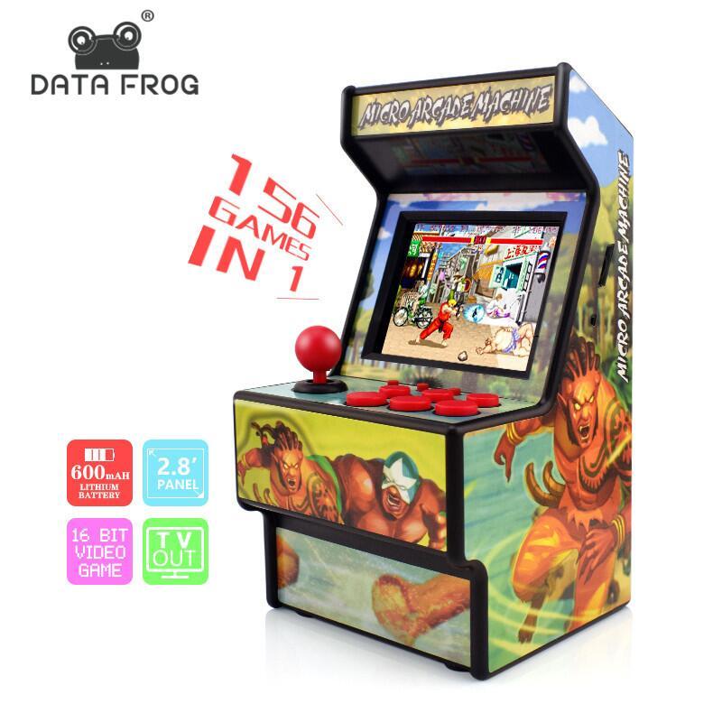 Dados Sapo Retro Mini Arcade 16 Bit Handheld Game Console Game Player Embutido 156 Clássico Console De Vídeo Game Para Crianças brinquedo de presente
