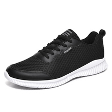 Platform-Shoes Casual Sneakers Men Trainers Flats Breathable Fashion Mesh Lace-Up