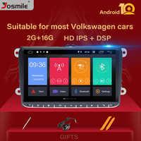"9 ""IPS DSP Android 10 radio de coche GPS navegación para VW Passat B6 touran volkswagen Skoda Octavia 2polo golf 5 6 reproductor Multimedia"