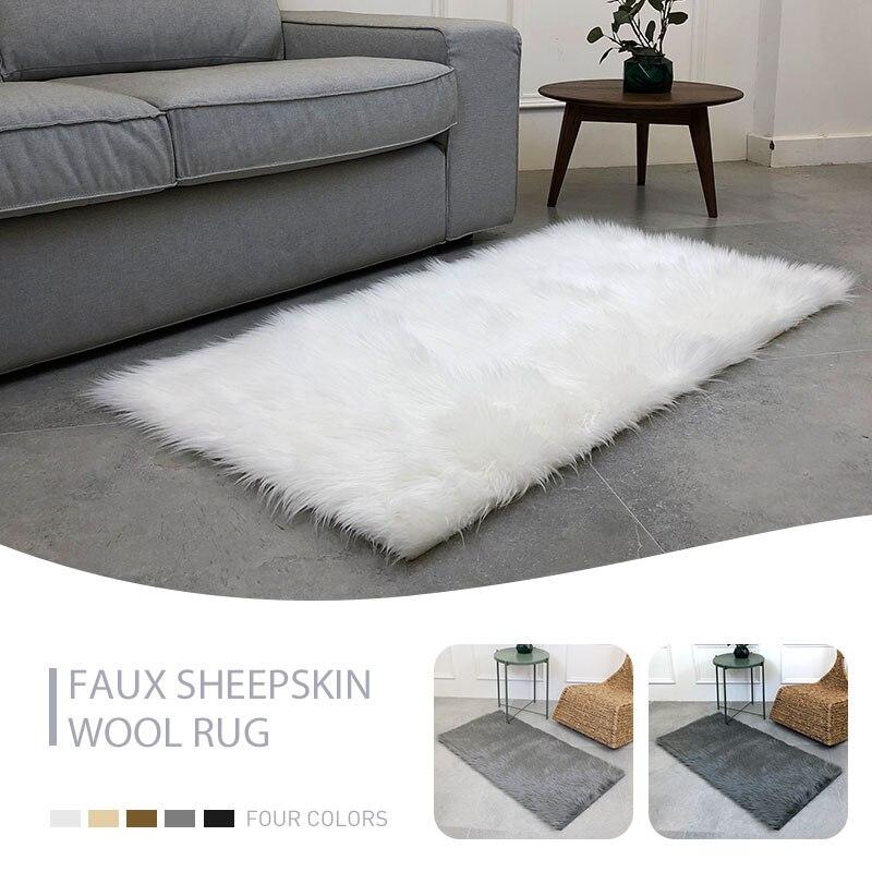 Tapis moelleux 180X100cm chaise tapis chambre tapis sol luxueux multicolore Rectangle décoration de la maison chaud anti-dérapant