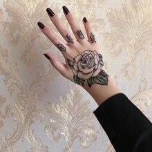 Водонепроницаемый временная татуировка наклейка цветок Роза поддельные тату флэш-тату рука ноги назад Тато боди-арт для девушек женщин мужчин