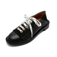 New Women's Genuine Leather Fashion Snearker Casual Shoes Lace-Up Neutral Style Comfort Loafers Slippers