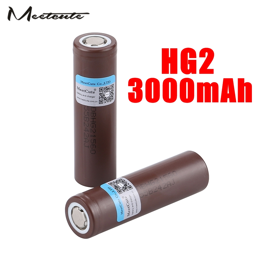 18650HG2 3.6V 3000mAh Rechargeable battery power high discharge 30A large current For LG Electronic cigarette Power battery