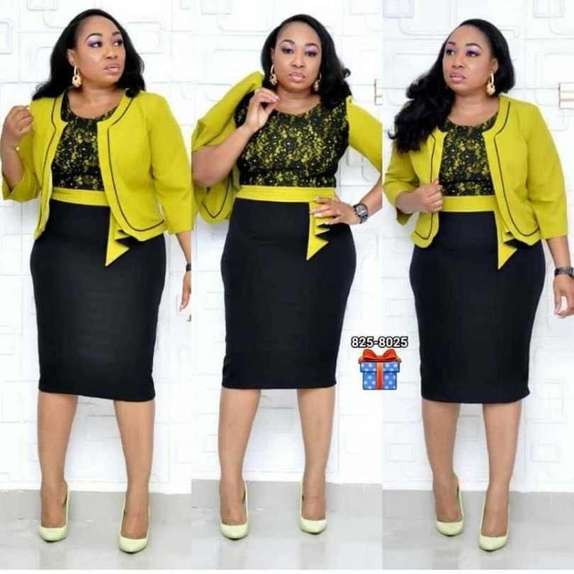 Ropa africana de encaje Patchwork conjunto de dos piezas mujer 2019 elegante Blazer y vestido lápiz de encaje alta calidad Oficina señora de talla grande