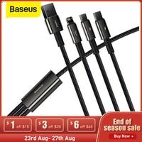 Baseus 3 in 1 USB Typ C Kabel für iPhone 12 Pro Mini Max Schnelle Ladekabel oder Samsung S20 xiaomi Micro USB C Kabel