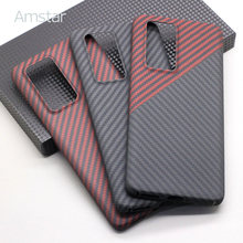 Amstar Echte Pure Carbon Fiber Beschermhoes Voor Huawei P40 Pro Plus Dual Kleur Carbon Fiber Hard Cover Voor Huawei p40 Pro