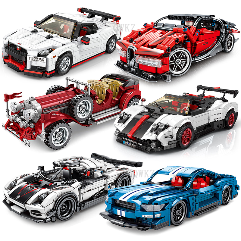 City Series Sports Car Building Blocks Toys Compatible Legoes Technic Car Educational Bricks Toys For Children Boy Gift