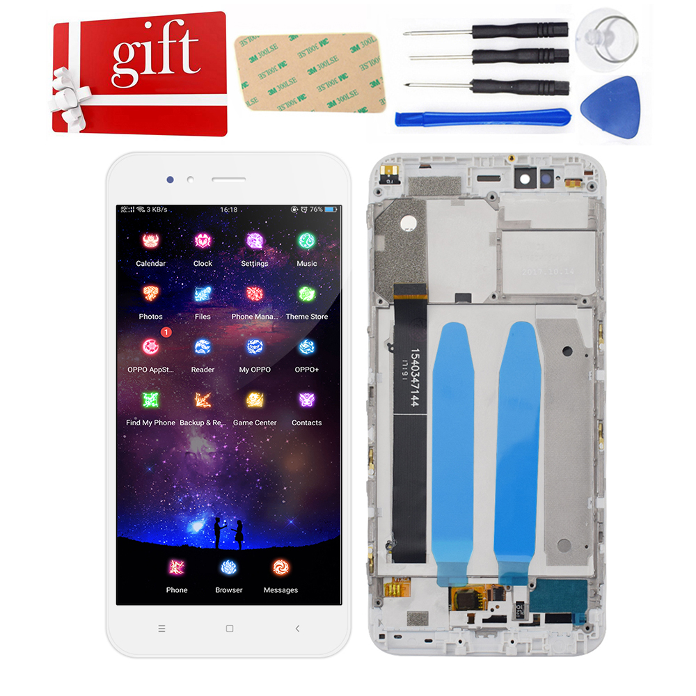 LCD For Xiaomi Mi 5x Mi5X LCD Display Touch Screen Digitizer Sensor Glass Assembly With Frame For Xiaomi Mi A1 MiA1 LCD Screen