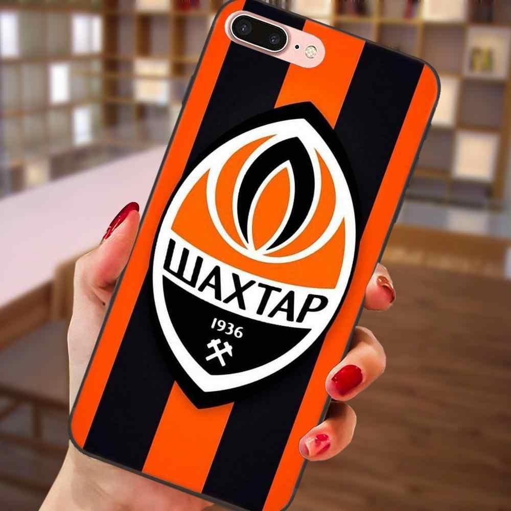 Dành Cho Huawei Honor 5A 6A 6C 7A 7C 7X 8A 8C 8X9 10 P8 P9 P10 P20 P30 mini Lite Plus Thẳng Đứng Điện Thoại Ốp Lưng Shakhtar Donetsk Logo