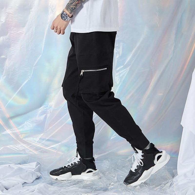 2020 New Style Pants Men 's Summer Fashion Sports Pants Elastic Overalls Korean Style Cargo Pants Ankle-length Pants Loose Feet