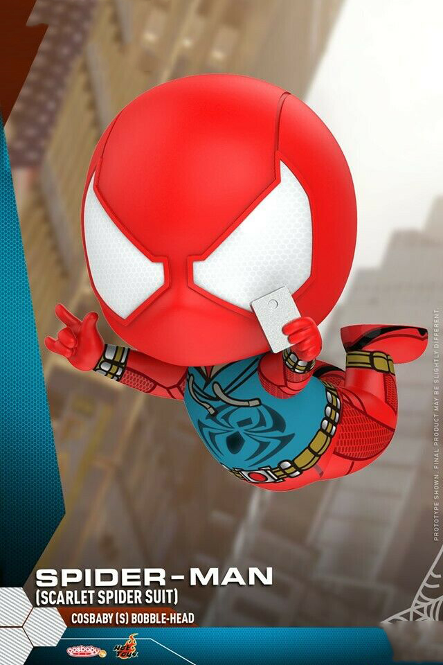 s scarlet spider suit Brand New!! Hot Toys Cosbaby 620 Spiderman