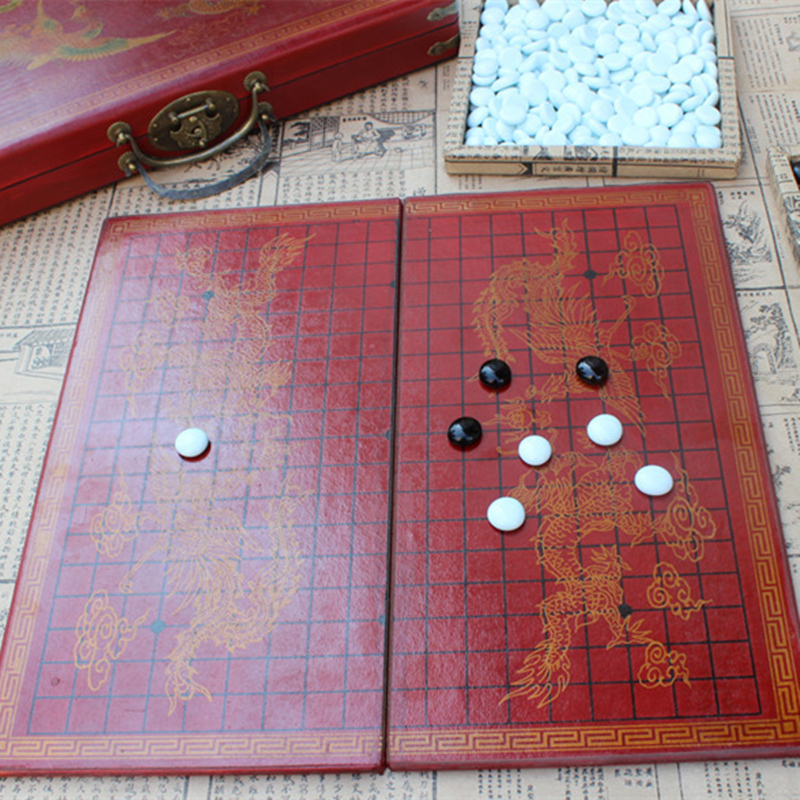 New Chess Retro Go Game Set Wooden 37*37CM Chessboard Ming And Qing Craft Go Glass Chess Pieces Lifelike Textured