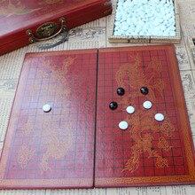 Nouveau jeu d'échecs rétro Go en bois 37*37CM échiquier Ming et Qing Craft Go pièces d'échecs en verre texture réaliste