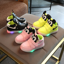 led girls boys kids sneaker shoes casual flat runing sport c