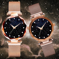 Women Magnet Starry Buckle Luxury Casual Watch Women Geometric Surface Quartz Watches Relogio Feminino Delivery reloj mujer