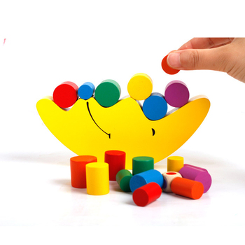 Baby Early Learning Toy Moon Balancing Frame Montessori Teaching Aids Moon Balance Colorful Early Development Wooden Blocks Toy flyingtown montessori teaching aids balance scale baby balance game early education wooden puzzle children toys