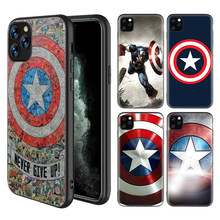 Funda collage de Capitán América para iPhone 11 Pro X XS MAX XR 7 8 6 6S Plus 5 5S SE funda de silicona negra para teléfono(China)