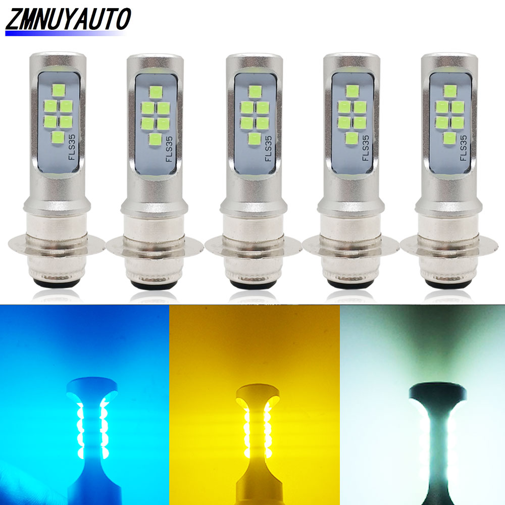 5PCS H6 BA20D Moto <font><b>LED</b></font> P15D <font><b>H4</b></font> <font><b>Led</b></font> <font><b>Motorcycle</b></font> Headlight <font><b>Bulbs</b></font> 12V 24V DRL Lamp Fog Light Motor Scooter Headlamp For Suzuki image