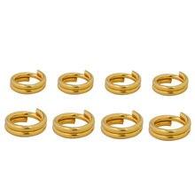 100 sztuk ze stali nierdzewnej Jump pierścień podwójne pierścienie podwójne pętle dzielone pierścienie złącza DIY elementy do wyrobu biżuterii dla majsterkowiczów hurtowych