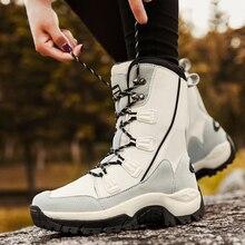 UPUPER nuevas Botas de nieve para Mujer zapatos de invierno Botas cálidas de confort Botas de plataforma de tacones impermeables al aire libre con Botas de piel Mujer 2019